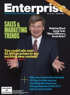 Personal Marketing Expert featured on cover of Enterprise Magazine